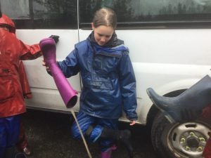 Wet Wellies!   Myddle CE Primary and